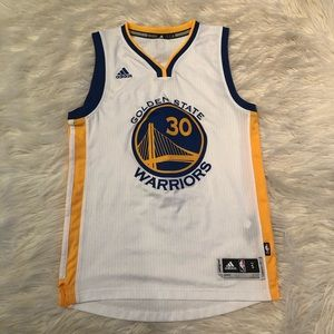 Stephen Curry white Golden State Warriors jersey